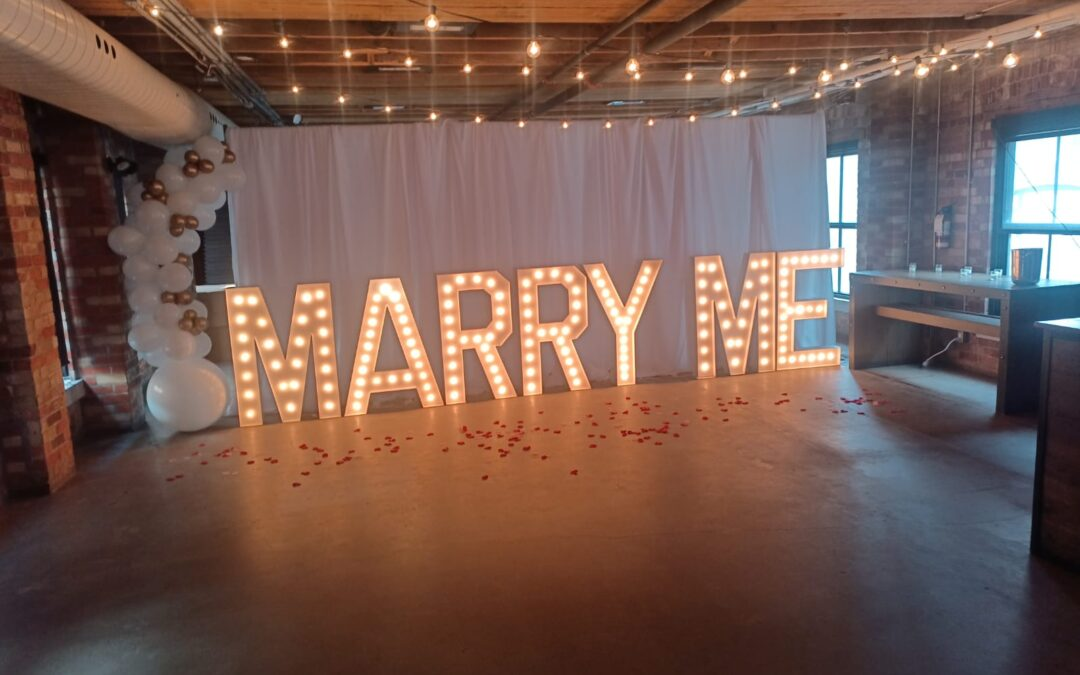 Propose with Marquee Letters in Orlando